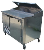 Cooltech 1-1/2 Door Refrigerated Pizza Prep Table 60""