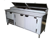 Cooltech 2-1/2 Door Refrigerated Pizza Prep Table 84""