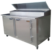 Cooltech 2 Door Refrigerated Pizza Prep Table 60""