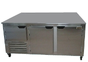 Cooltech 2-1/2 Door Low Boy Worktop Freezer 72""