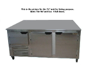 Cooltech 3-1/2 Door Low Boy Worktop Freezer 96""