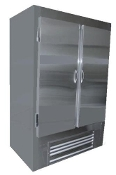 Cooltech Stainless Steel 2-Door Reach-In Upright Freezer 54""
