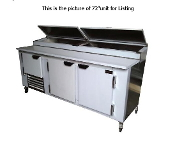 Cooltech 3-1/2 Door Refrigerated Pizza Prep Table 96""