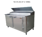 Cooltech 3 Door Refrigerated Pizza Prep Table 72""
