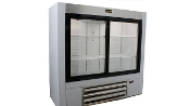 "Custom Sliding Doors Reach-In Display Cooler 54"" x 20"" Depth"